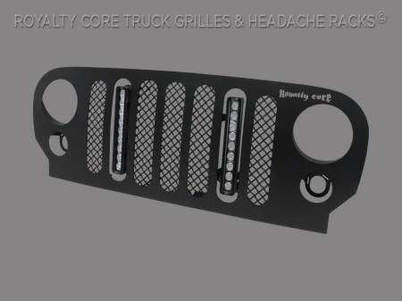Royalty Core - Jeep Wrangler 2007-2017 RCJK Full Grille Replacement W/LED - Image 2