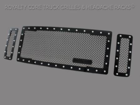 Royalty Core - Ford Super Duty 2008-2010 RC1 Main Grille 3 Piece Satin Black - Image 2