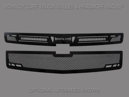 Grilles - RCRXT - Royalty Core - Chevrolet Suburban & Tahoe 2015-2018 RCRX LED Race Grille-Top Mount LED