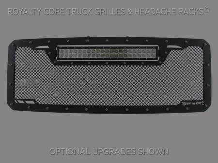 Super Duty - 2011-2016 Super Duty Grilles - Royalty Core - Ford Super Duty 2011-2016 RCRX LED Race Line Grille-Top Mount LED