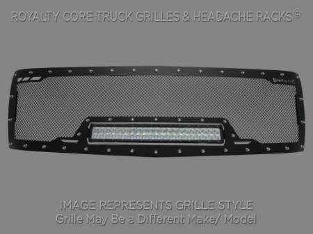 Grilles - RCRXB - Royalty Core - Chevy 2500/3500 2011-2014 Full Grille Replacement RCRX LED Race Line Grille
