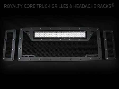 Excursion - 2008-2010 Excursion Grilles - Royalty Core - Ford Super Duty 2008-2010 RCRX LED Race Line Grille-Top Mount LED