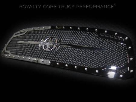 Grilles - RC2 - Royalty Core - Dodge Ram 1500 2013-2017 RC2 Main Grille Twin Mesh with Black Sword Assembly