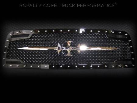Grilles - RC2 - Royalty Core - Dodge Ram 1500 2013-2017 RC2 Main Grille Twin Mesh with Chrome Swords