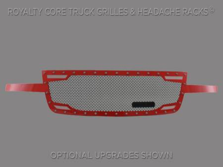Grilles - RC2 - Royalty Core - Chevy 2500/3500 2005-2007 Full Grille Replacement RC2 Twin Mesh Grille
