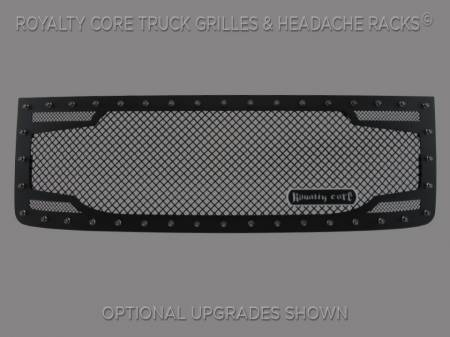 2500/3500 Sierra - 2011-2014 2500 & 3500 Sierra Grilles - Royalty Core - GMC Sierra HD 2500/3500 2011-2014 RC2 Twin Mesh Grille