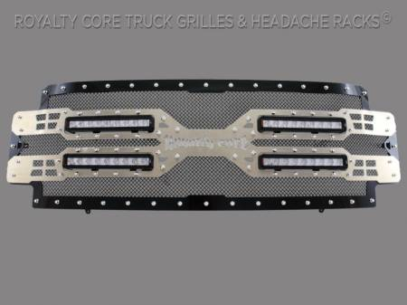 Grilles - RC5X - Royalty Core - Ford Super Duty 2017-2019 RC5X Quadrant LED Full Grille Replacement