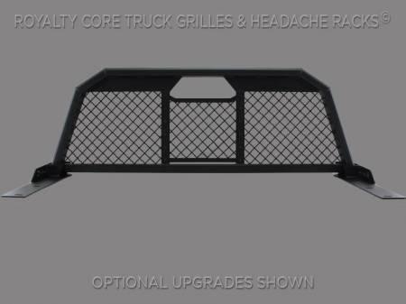 Royalty Core - Chevy/GMC 1500/2500/3500 1999-2007.5 RC88 Billet Headache Rack with Diamond Mesh - Image 2