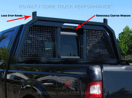 Royalty Core - Ford Superduty F-250 F-350 1999-2010 RC88 Headache Rack with Diamond Crimp Mesh - Image 2