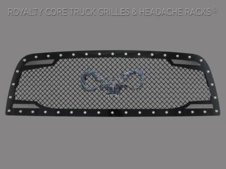 2500/3500/4500 - 2013-2018 2500, 3500, & 4500 Grilles - Royalty Core - Dodge Ram 2500/3500 2013-2018 RC2 Main Grille Twin Mesh with Goat Skull Logo