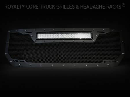 Grilles - RCRXT - Royalty Core - Chevrolet 1500 2016-2017 RCRX LED Race Line Grille-Top Mount LED
