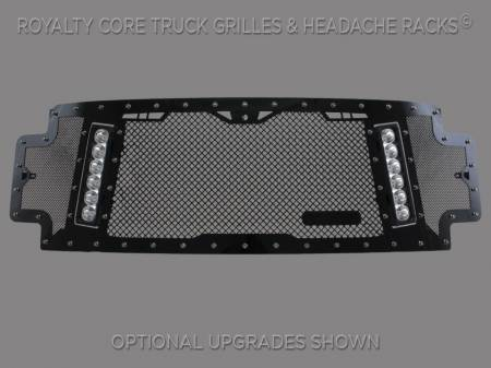 SuperDuty - 2017-2018 - Royalty Core - Ford Super Duty 2017-2018 RCX Explosive Dual LED Full Grille Replacement