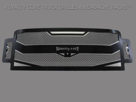 Grilles - RC4 - Meyer's - Ford Super Duty 2017-2018 RC4 Layered Full Grille Replacement -Camera Mount