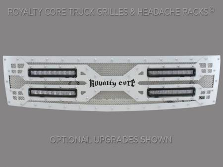 Royalty Core - Royalty Core Chevrolet Silverado Full Grille Replacement 1500 2007-2013 RC5X Quadrant LED Grille - Image 2