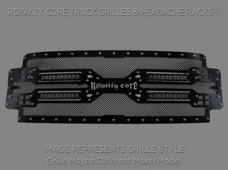 Grilles - RC5X - Royalty Core - Royalty Core GMC Sierra & Denali 1500 2007-2013 RC5X Quadrant LED Grille 100% Stainless Steel Truck Grille