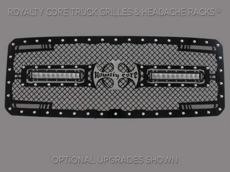 Super Duty - 2011-2016 Super Duty Grilles - Royalty Core - Ford Super Duty 2011-2016 RC2X X-Treme Dual LED Grille