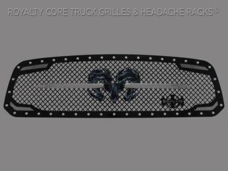 1500 - 2013-2018 - Royalty Core - Dodge Ram 1500 2013-2018 RC2 Grille Twin Mesh w/ Speared Ram Sword Assembly