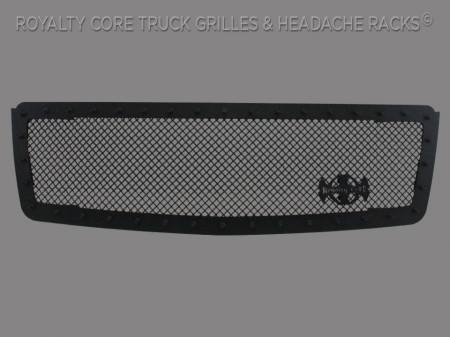Royalty Core - Chevrolet Suburban, Tahoe, Avalanche 2007-2014 RC1 Classic Grille Satin Black - Image 4