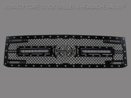 2500/3500 - 2007-2010 - Royalty Core - Chevy 2500/3500 2007-2010 RC2X X-Treme Dual LED Full Replacement Grille