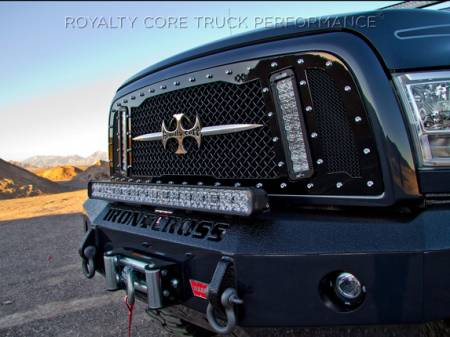 2500/3500 Sierra - 2003-2006 - Royalty Core - GMC Sierra HD 2500/3500 2003-2006 RCX Explosive Dual LED Grille