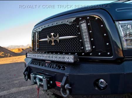 2500/3500 Sierra - 2003-2006 - Royalty Core - GMC Sierra HD 2500/3500 2003-2006 RCX Explosive Dual LED Grille