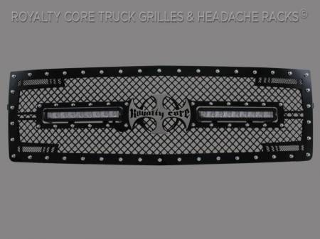 1500 - 2014-2015 1500 Grilles - Royalty Core - Chevrolet 1500 2014-2015 RC2X X-Treme Dual LED Grille(NON Z71)