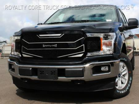F-150 - 2018-2019 F-150 Grilles - Meyer's - Ford F-150 2018-2019 RC4 Layered Full Grille Replacement-Gloss
