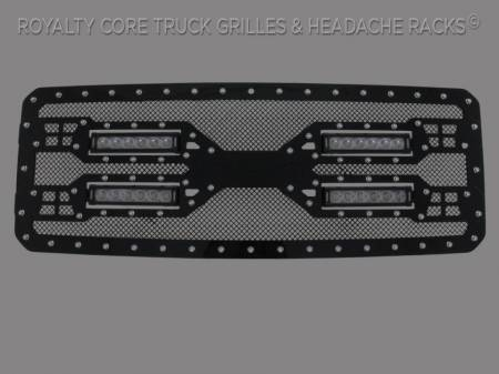 Super Duty - 2011-2016 Super Duty Grilles - Royalty Core - Ford Super Duty 2011-2016 RC5X Quadrant LED Grille