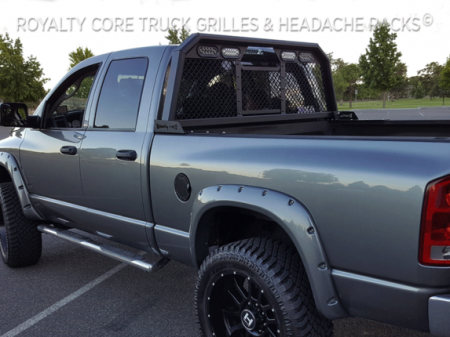 Royalty Core - Dodge Ram 2500/3500/4500 2010-2019 RC88 Standard Height Headache Rack w/ Integrated Taillights