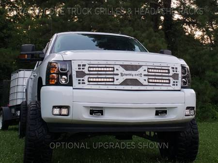Royalty Core - Royalty Core Chevrolet Silverado Full Grille Replacement 1500 2007-2013 RC5X Quadrant LED Grille - Image 3