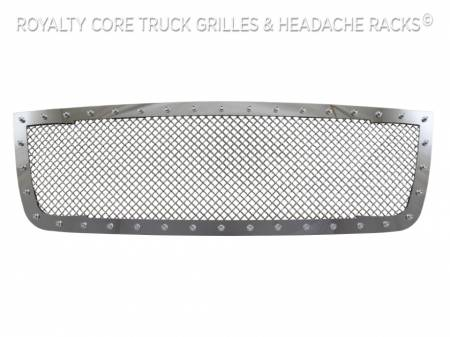 Royalty Core - Chevrolet 2500/3500 2005-2007 Full Grille Replacement RC1 Classic Grille Chrome - Image 4